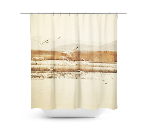 Nautical Flight Shower Curtain - Sylvia Coomes