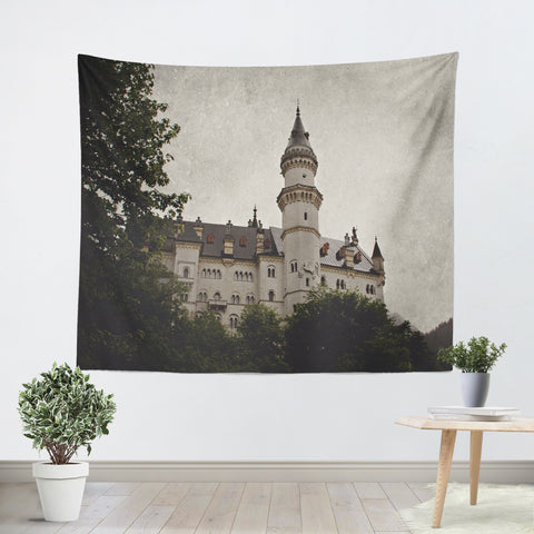 Neuschwanstein Castle Tapestry - Sylvia Coomes