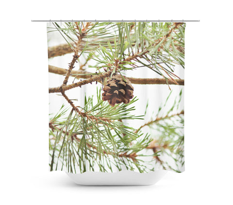 Pine Cone Shower Curtain - Sylvia Coomes