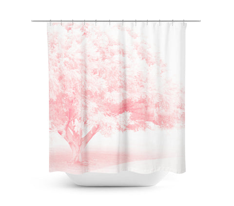 Pink Frost Shower Curtain - Sylvia Coomes