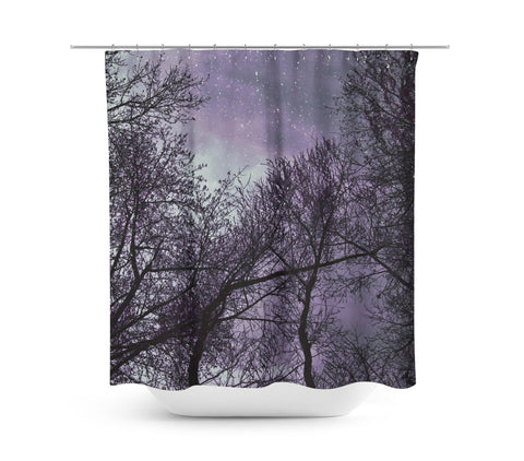 Purple Night Shower Curtain - Sylvia Coomes