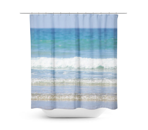 Rolling Waves 2 Shower Curtain - Sylvia Coomes