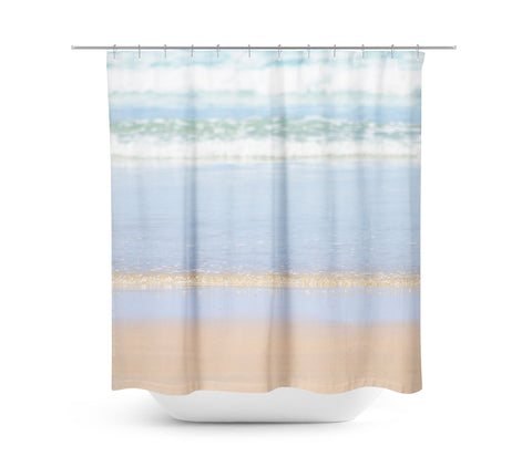 Rolling Waves 3 Shower Curtain - Sylvia Coomes