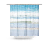 Rolling Waves 4 Shower Curtain - Sylvia Coomes