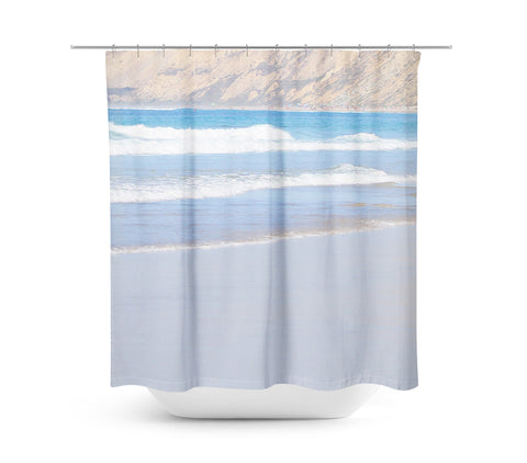 Rolling Waves 6 Shower Curtain - Sylvia Coomes