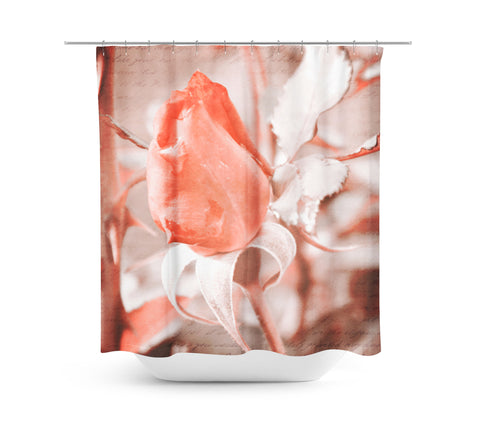 Rose Shower Curtain - Sylvia Coomes