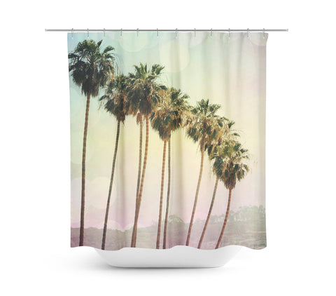 Row of Palm Trees Shower Curtain - Sylvia Coomes