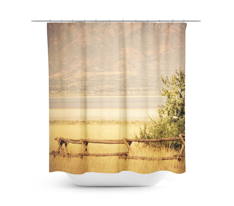 Rustic Fence Shower Curtain - Sylvia Coomes