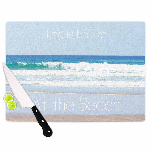 Cutting Board Life is Better at the Beach - Sylvia Coomes
