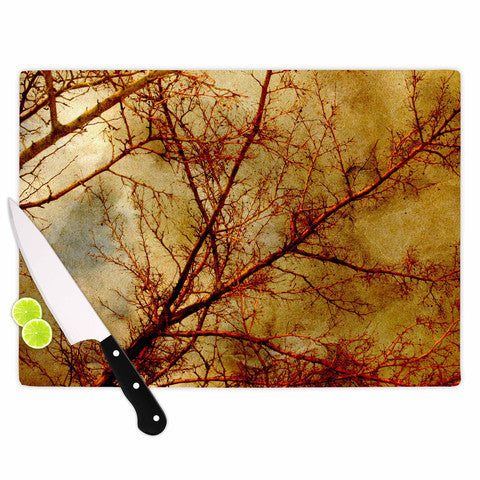 Gothic Red Trees Cutting Board - Sylvia Coomes