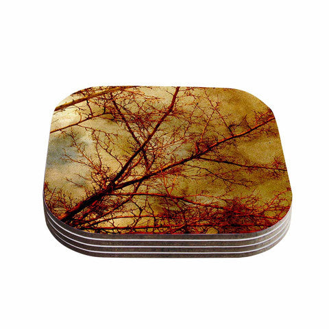 Gothic Red Trees Coaster Set - Sylvia Coomes