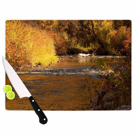 Autumn Stream Cutting Board - Sylvia Coomes