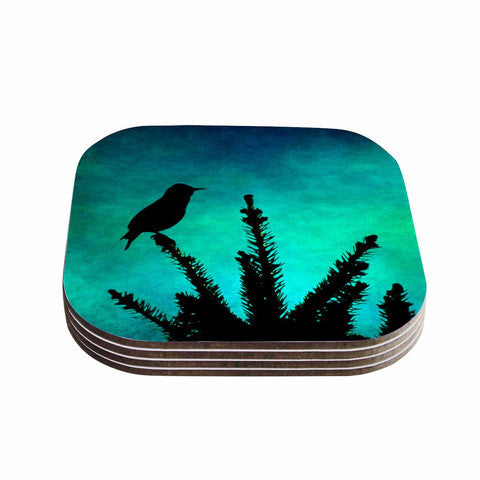 Bird Silhouette Coaster Set
