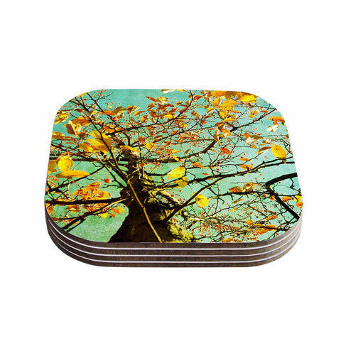 Autumn Tree Coaster Set