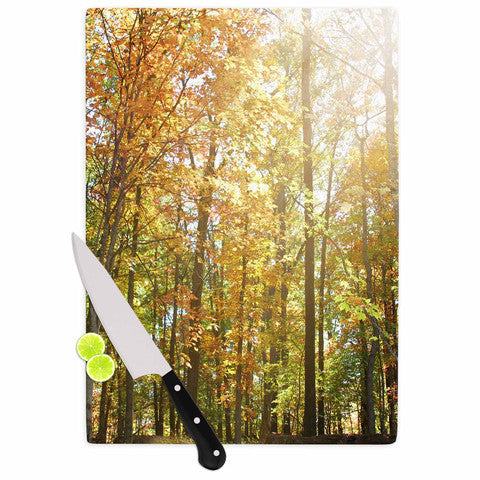 Autumn Trees 2 Cutting Board - Sylvia Coomes