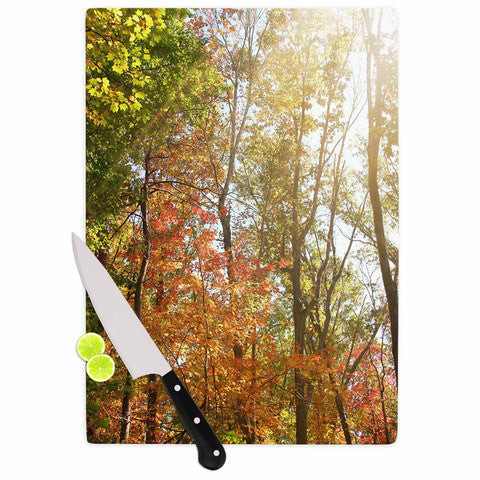 Autumn Trees 1 Cutting Board - Sylvia Coomes