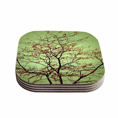 Modern Fall Tree Coaster Set