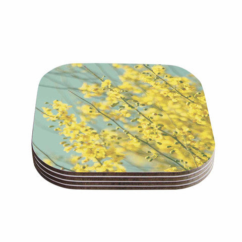 Yellow Blooms 1 Coaster Set - Sylvia Coomes