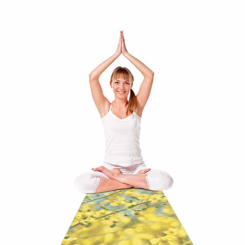 Yellow Blooms Yoga Mat