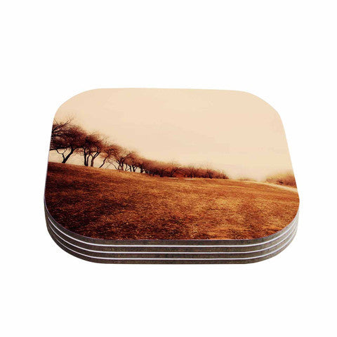 Minimalist Autumn Landscape Coaster Set