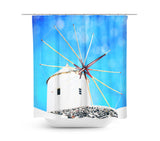 Santorini 2 Shower Curtain - Sylvia Coomes