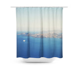 Santorini Caldera Shower Curtain - Sylvia Coomes