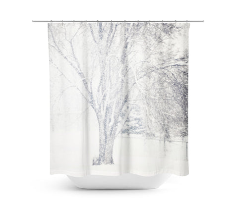 Snow Storm Shower Curtain - Sylvia Coomes
