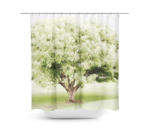 Soft Green Tree Shower Curtain - Sylvia Coomes
