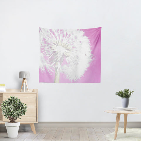 Soft Pink Dandelion Tapestry - Sylvia Coomes