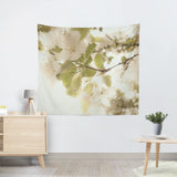 Soft White Flowers Tapestry - Sylvia Coomes