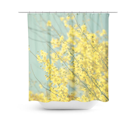 Sunny Blooms 1 Shower Curtain - Sylvia Coomes