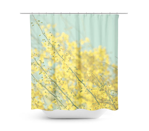 Sunny Blooms 3 Shower Curtain - Sylvia Coomes