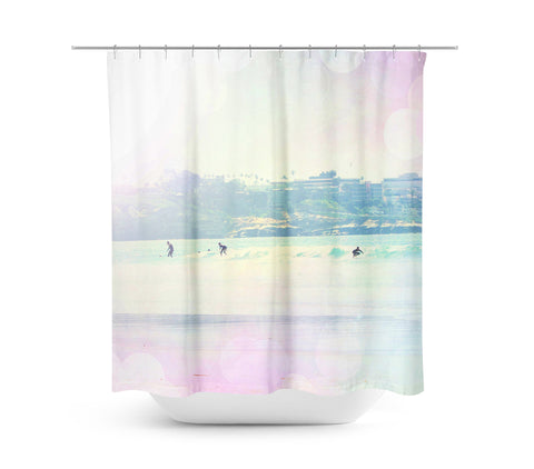Surfin 1 Shower Curtain - Sylvia Coomes