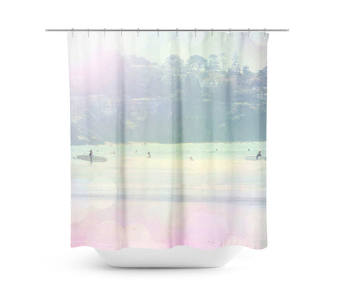 Surfin 3 Shower Curtain - Sylvia Coomes