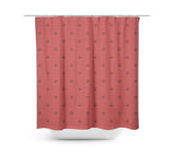 Swiss Cross Berry Red Shower Curtain - Sylvia Coomes