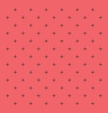 Swiss Cross Coral Shower Curtain - Sylvia Coomes