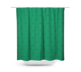 Swiss Cross Forest Green Shower Curtain - Sylvia Coomes