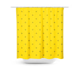Swiss Cross Mustard Yellow Shower Curtain - Sylvia Coomes