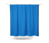 Swiss Cross Royal Blue Shower Curtain - Sylvia Coomes