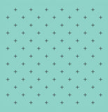 Swiss Cross Seafoam Shower Curtain - Sylvia Coomes