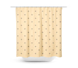 Swiss Cross Tan Shower Curtain - Sylvia Coomes