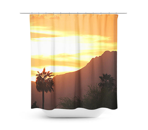 Tucson Sunset Shower Curtain - Sylvia Coomes