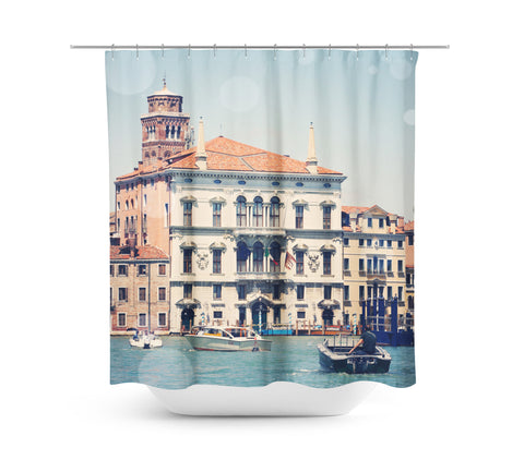 Venice 4 Bokeh Shower Curtain - Sylvia Coomes