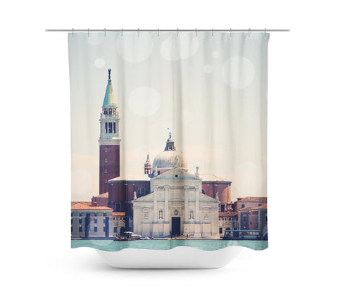 Venice 8 Bokeh Shower Curtain - Sylvia Coomes