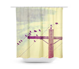 Vintage Birds on a Wire 2 Shower Curtain - Sylvia Coomes