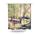 Walk in the Park Shower Curtain - Sylvia Coomes