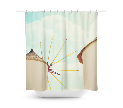 Windmill 1 Shower Curtain - Sylvia Coomes