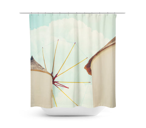 Windmill 2 Shower Curtain - Sylvia Coomes