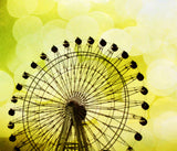 Lemon Yellow Ferris Wheel Tapestry - Sylvia Coomes