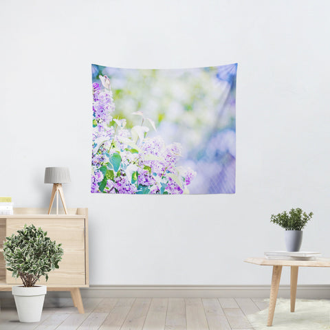 Hazy Purple Flowers Tapestry - Sylvia Coomes